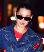 Everything's Coming Up Roses in Bella Hadid's Chic Denim Jumpsuit