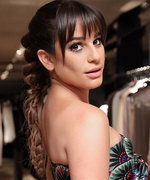 Lea Michele's Braided Ponytail Is Basically an Optical Illusion