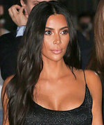 Kim Kardashian West Dazzles in a Plunging Glittery Black Gown