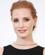 Jessica Chastain's White Wedding Dress Is Pure Elegance