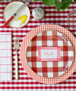 This Gingham-Happy Tablescape Is Perfect For Your July 4th Spread