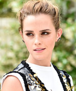 Emma Watson Demos How to Layer a Gown Over a Graphic Tee