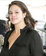 Fresh-Faced Ashley Graham Rocks a Minimalist Ensemble at JFK