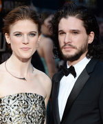 Kit Harington Shows Off Rippling Biceps at Glastonbury Festival with Rose Leslie