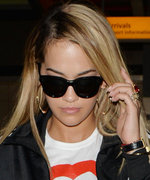 Rita Ora Wears Her Grenfell Fire Tribute T-Shirt Again at Heathrow Airport