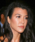 Kourtney Kardashian Sports Velvet-on-Velvet, Makes Us Sweaty by Proxy