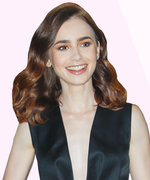 Lily Collins (+ Her Prada Feathers) Win Fashion