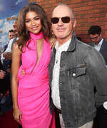 Michael Keaton Held Zendaya's Train on the Spider-Man: Homecoming Hollywood Premiere Red Carpet