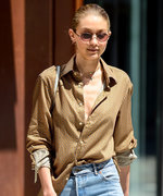 Let Gigi Hadid Show You How to Pull Off a Men's Shirt