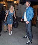 Ben Affleck and Lindsay Shookus Coordinate in Shades of Blue