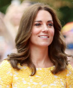 Kate Middleton Stuns in a Sunny Yellow Jenny Packham Dress