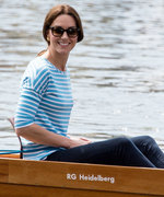 Kate Middleton Takes On Prince William in a Competitive Boat Race in Germany