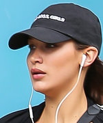 Bella Hadid Bared Her Abs While Running in N.Y.C.