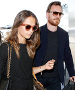 Alicia Vikander and Michael Fassbender Coordinate at LAX