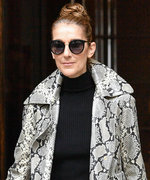 Celine Dion Is Wearing So Much Python Print at Once