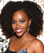 Daily Beauty Buzz: Teyonah Parris's Bold Eye and Lip Combo