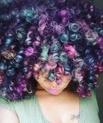 This Instagram Star Dyes Her Natural Hair With Unicorn Colors