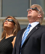 Melania Trump Looked at the Solar Eclipse Without Glasses