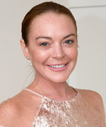 "Lindsay Lohan Wears $30 ""Beach Please"" Sandals"