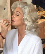 Cindy Crawford Goes Platinum to Become Marilyn Monroe