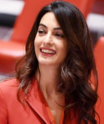 Amal Clooney Gets Back to Work in a Retro Skirt Suit at the UN
