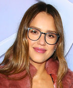 Pregnant Jessica Alba Makes a Case for Pink Fur