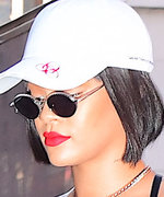 Rihanna Makes Pinstripes Sexy in N.Y.C.