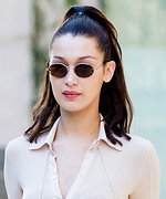 Bella Hadid's See-Through Shirt Is Popping Open at the Seams