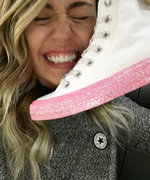 Miley Cyrus Debuts Her Sparkly New Converse Collaboration
