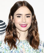 Daily Beauty Buzz: Lily Collins's Magenta Lipstick
