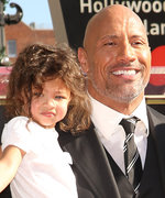 """Dwayne """"The Rock"""" Johnson's Daughter Is Too Cute at His Hollywood Walk of Fame Ceremony"""