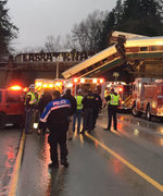 Amtrak Train Dangles Over Washington Highway After Derailment, Several Dead: Reports