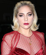 Lady Gaga's Sizzling Red Mesh Gown Leaves Very Little to the Imagination