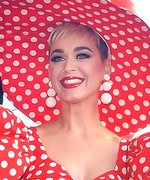 Katy Perry Channeled Her Inner Minnie Mouse atthe Disney Icon's Hollywood Walk of Fame Ceremony