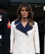 Melania Trump Wore a $4,000 Gucci Wool Coat in 80 Degree Humidity
