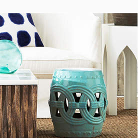 Wisteria Indian Rings Stool