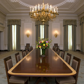 Michelle Obama Gives the State Dining Room a Stunning Makeover