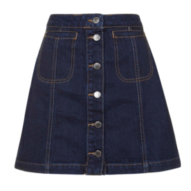 Topshop Indigo Button Front Skirt