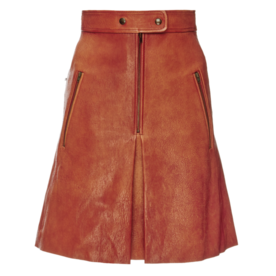 Jilly+Stretch+Leather+Skirt