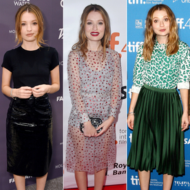 "Emily Browning Discovers the ""Librarian Dominatrix"" Look at #TIFF15"
