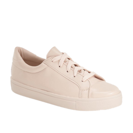 <p>Faux leather sneakers</p>