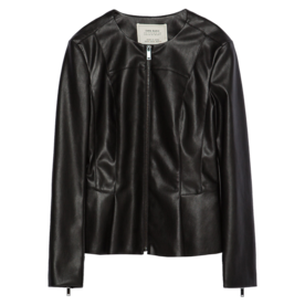 Zara Peplum leather-effect jacket