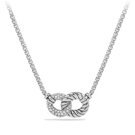 David Yurman Belmont® Necklace with Diamonds in Sterling Silver