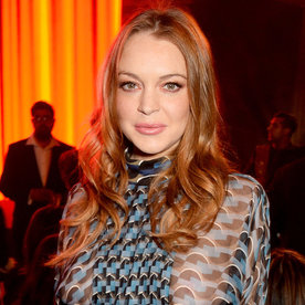 Lindsay Lohan Looks Better Than Ever in a Plunging Bathing Suit