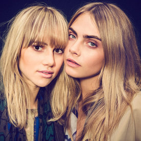 Cara Delevingne and Suki Waterhouse Become #HairTwins with Matching Blue Braids