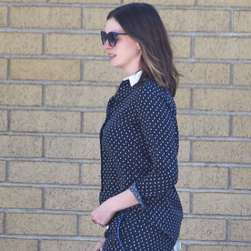 Anne Hathaway's Polka-Dot Pajama-Inspired Ensemble Is Just Too Cute