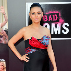 Pregnant Mila Kunis Wears No Ordinary LBD to the Bad Moms Premiere