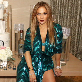 Birthday Girl Jennifer Lopez Ushers in Her 47th Year in a Plunging Green Jumpsuit