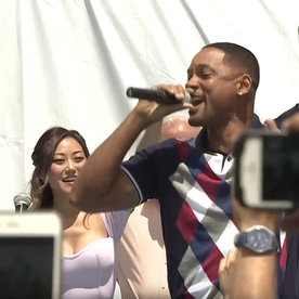 "Yes, Will Smith Rapped ""Miami"" at a Suicide Squad Block Party"