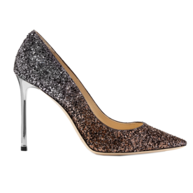 Romy+Glittered+Leather+Pumps